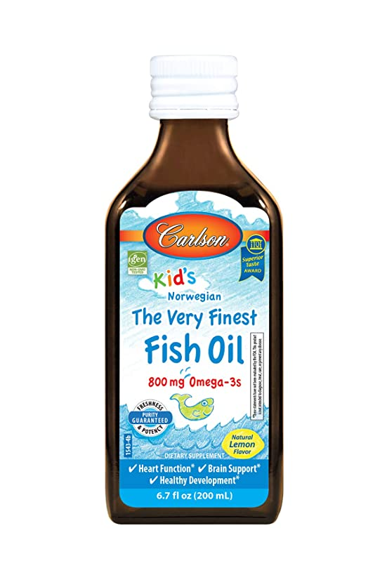 壮大注ぎますカレッジCarlson Labs Carlson for Kids Very Finest Liquid Fish Oil, Lemon, 200ml by Carlson Laboratories