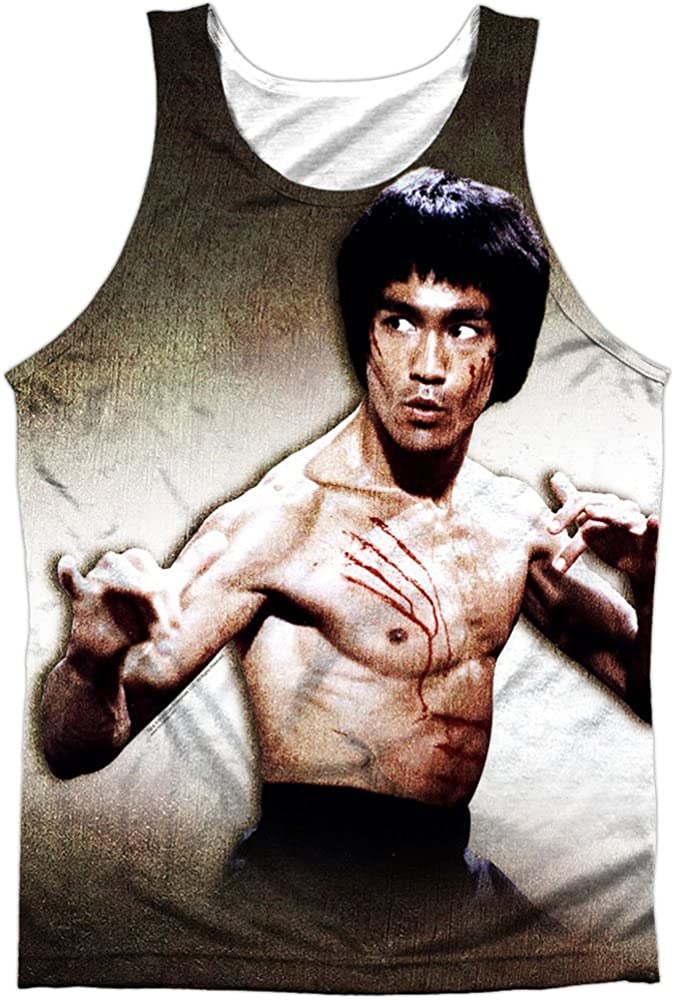 OFFer Bruce Lee Men's Scratched White Raleigh Mall Mens Tank