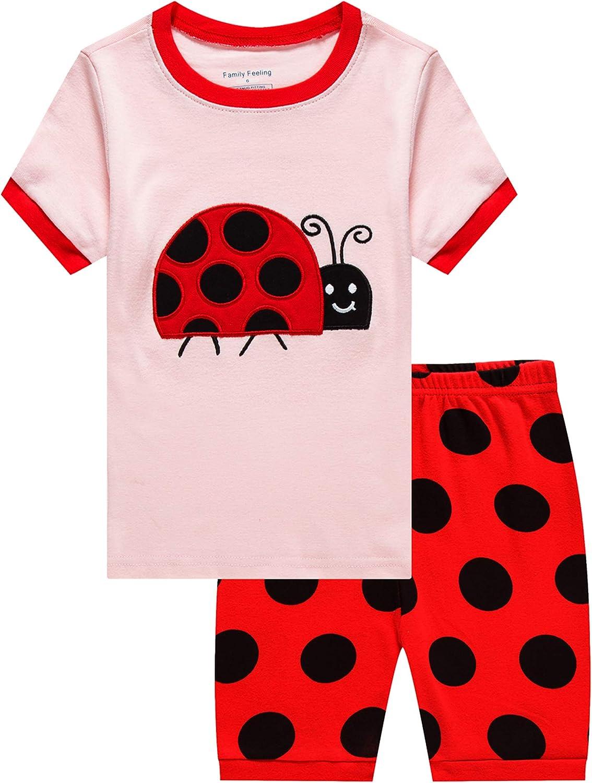 Family Feeling Giraffe Little Girls' Short Pajamas 100% Cotton Clothes