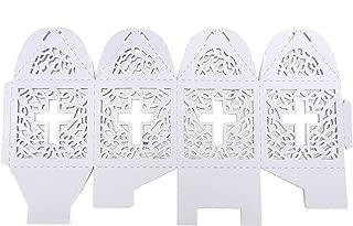 Cross cutout baptism communion christening Die cut Favor Boxes (12pcs) by Charmed