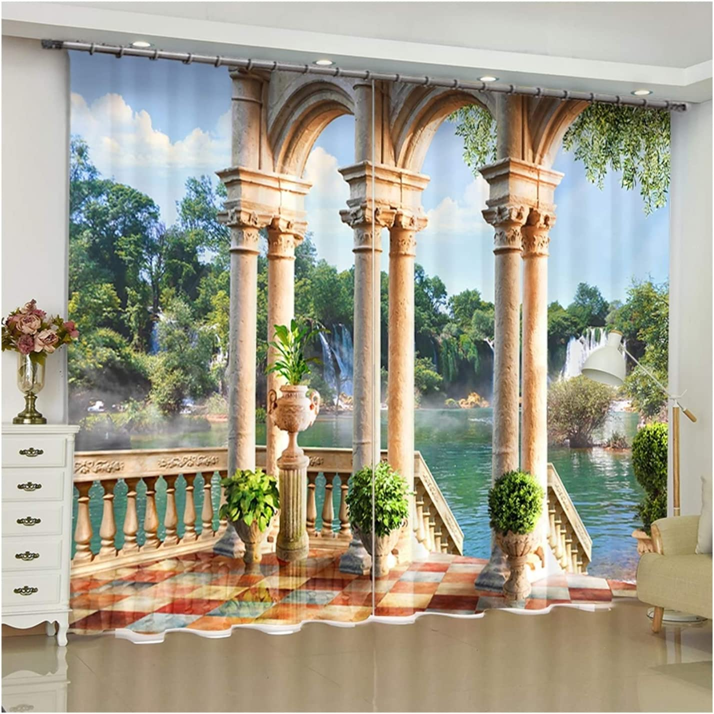 Daesar Blackout OFFicial Max 71% OFF shop Drapes for Living 2 Room Pane Curtains