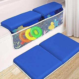 Almohadilla para rodillas y coderas de baño, 3,8 cm de grosor, para el baño del bebé y el codo de baño, alfombrilla para rodillas, cojín para rodillas con organizador de juguetes para bañera