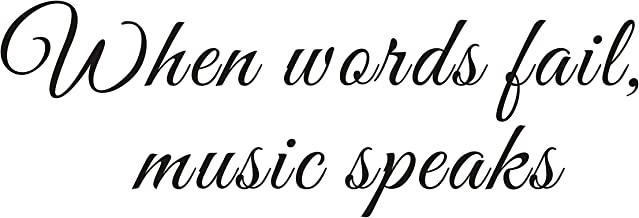 Everysticker4u When Words Fail Music Speaks Inspiring Shakespeare Poetry Mural Quote Vinyl Wall Sticker Decals Transfer Words Lettering Uplifting