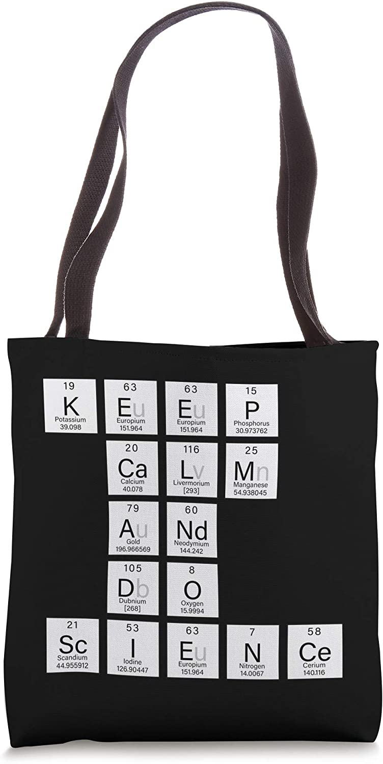 Keep Calm And Do Science Elements Chemistry Teacher Gift Tote Bag