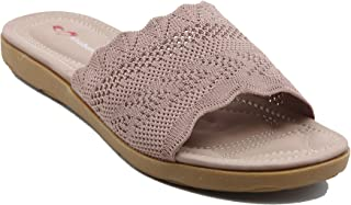 Shuberry SB-19055 Latest Footwear Collection, Comfortable & Fashionable Fabric in Beige, Black, Khaki & Pink Colour Flats for Women & Girls