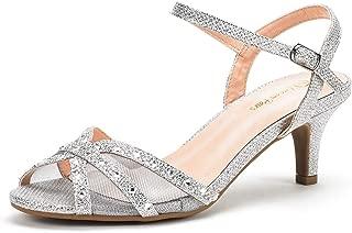 Amazon.es: sandalias de tacon bajo plateado: Zapatos y