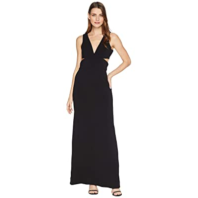 Laundry by Shelli Segal Crepe Gown with Cut Outs (Black) Women