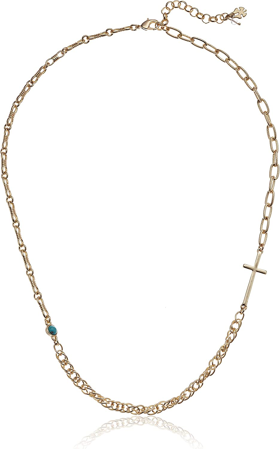 Lucky Brand Cross Chain Necklace, Gold