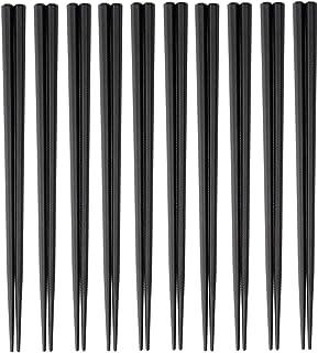 大黒工業 SPS製 リユース箸 23cm 六角 (黒) 10膳入