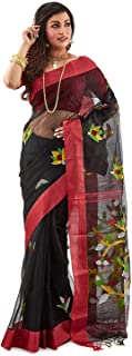 SareesofBengal Women's Handloom Muslin Dhakai Jamdani Silk Saree