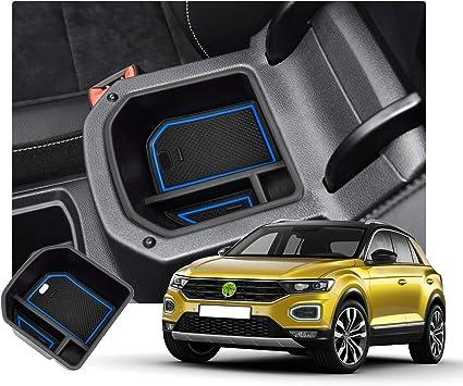 Ruiya T Roc Aufbewahrungsbox Handschuhfach Armlehne Aufbewahrungskiste Mittelkonsole Veranstalter Armlehne Box Blau Auto