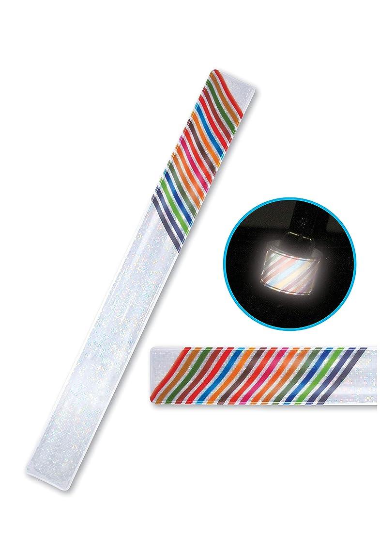 目覚める艶スケルトンSecure Life 反射材 虹色反射タックルバンド 2本セット