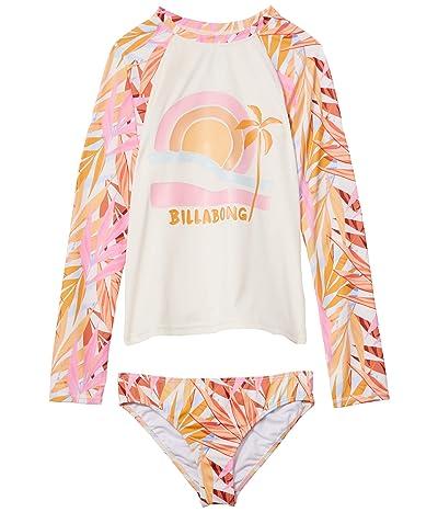 Billabong Kids Oceans Away Rashguard Set (Little Kids/Big Kids) (Multi) Girl