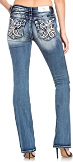 Miss Me in The Tropics Slim Bootcut Jeans
