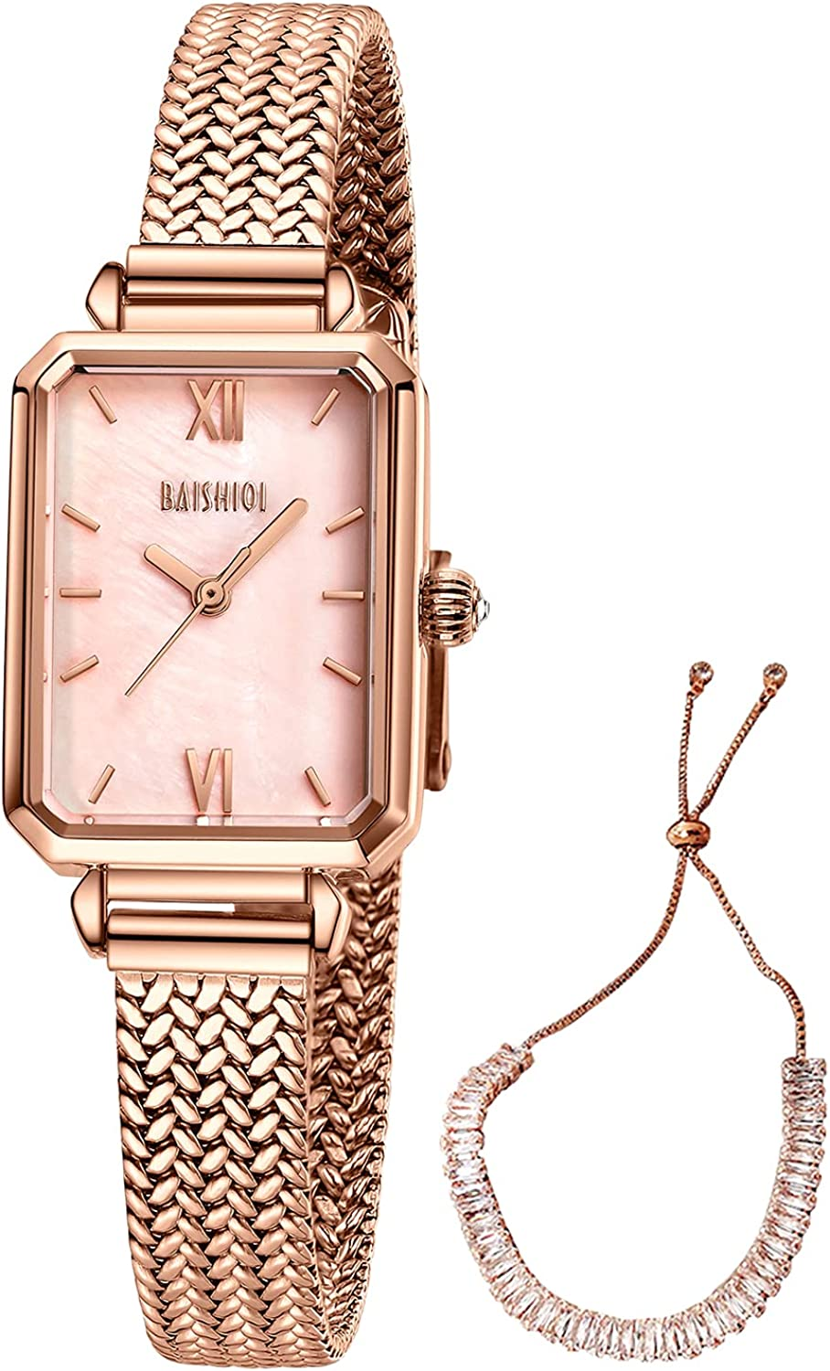 Womens Watches Square Max 67% OFF Quartz Casual Selling and selling Waterpro Analogue Minimalist