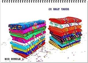 Mexican fabric half yard Bundle Set of 20. Assorted Colors, Fiesta Decorations, Aztec fabric, Tribal fabric by the half yard, Boho fabric set