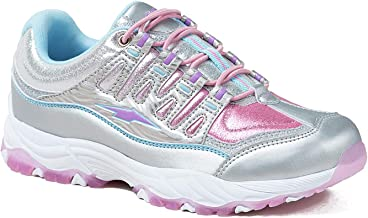 Avia Girl's Elevate Performance Athletic Sneaker Shoe with Memory Foam Insole, Fade Pink