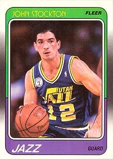 1988-89 Fleer Basketball #115 John Stockton Rookie Card