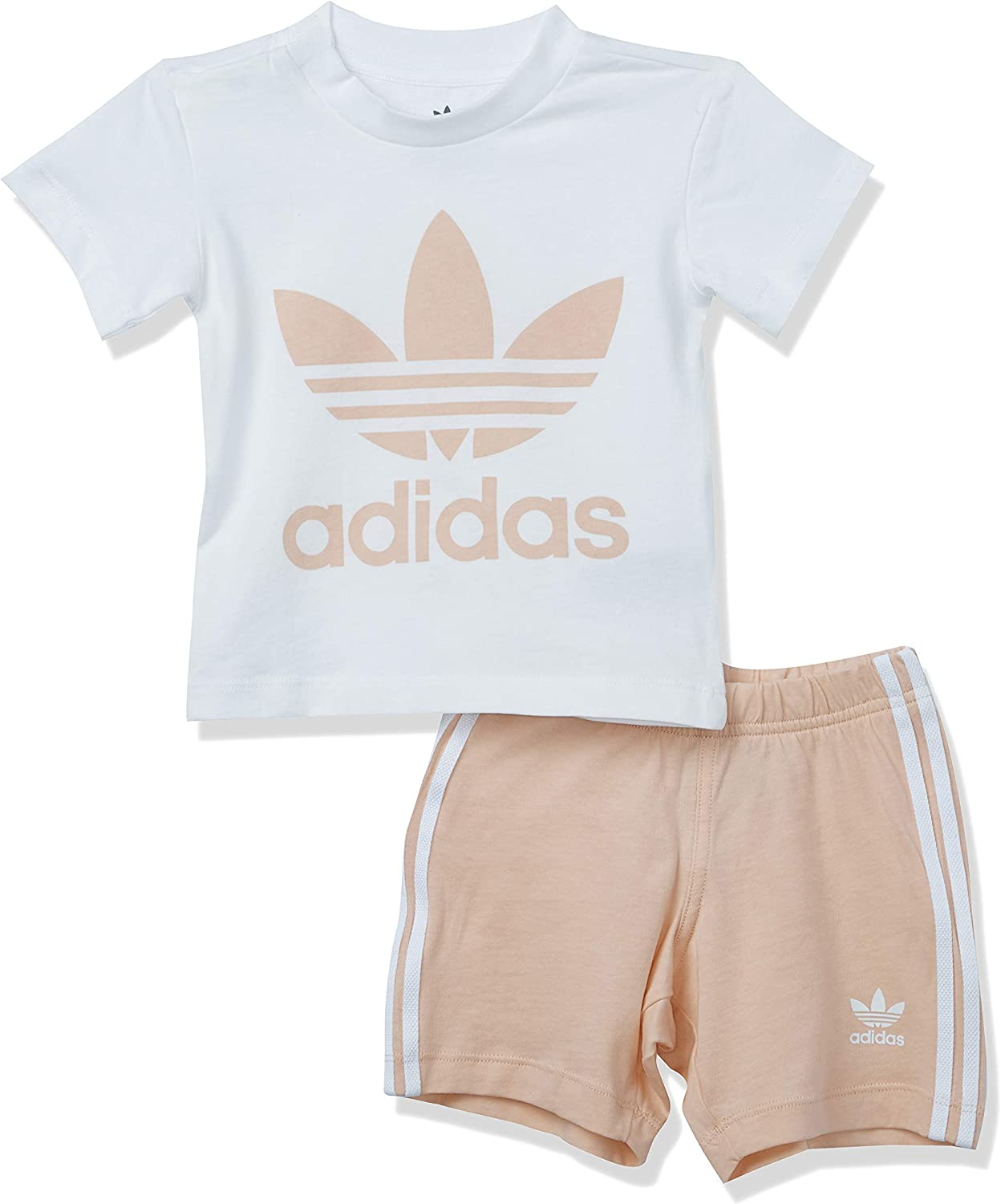 Clearance SALE! Limited time! adidas Originals baby-boys Trefoil Charlotte Mall Shorts Set Tee