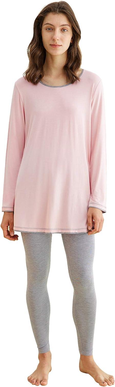 Latuza Women's Long Sleeves Tunic Leggings Top Pajamas Bombing new work All items free shipping Set