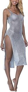 Romose Woman Camisoles Pareos Bikini Cover Up Boho Summer Hippie Tunic Beach Dress Swimwear Long Dress Cover Up Dresses