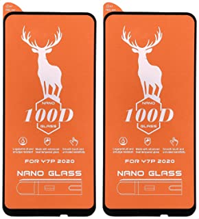 Ceramics Nano 100D Tempered Glass Screen Protector for Huawei Y7P, 6.39 inches, Set of 2 - Black