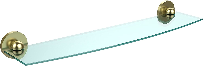 Allied Brass 1033 24-SBR 24-Inch Beveled 1 4-Inch Glass Shelf Satin Brass