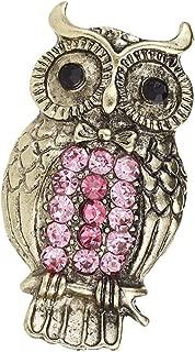 MagiDeal Pink Rhinestone Vintage Owl Brooch Pin Breastpin For Wedding Banquet Decor