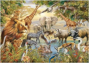 Jigsaw Puzzle Wild Animals on the Prairie 300/500/1500/2000 Pieces for Adults Kids Education Intellectual Power Toy Unique Gift Home Decor GAME0NO1 (Size : 500pcs)
