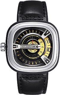agelocer 艾戈勒 瑞士品牌 大爆炸系列 自动机械男士手表 时尚创意镂空方形 5007A1(亚马逊自营商品, 由供应商配送)