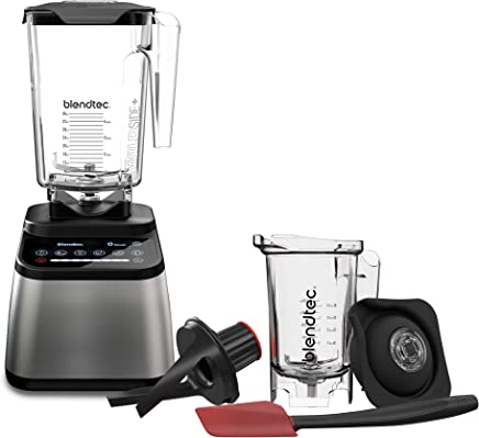 Blendtec D725C3216A1A-AMAZON Designer 725 Blender with Wild Side and Twister Jar, Stainless Black需配变压器