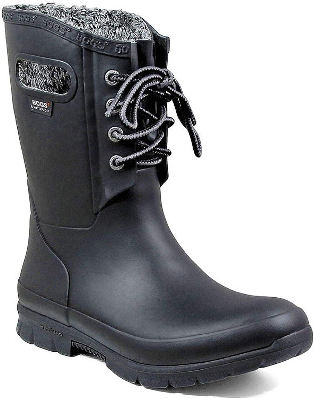 Bogs Women's Amanda Plush Insulated Work Boot Round Toe Black 9 M