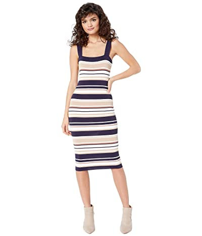 Bardot Multi Stripe Dress (Navy/Pebble) Women