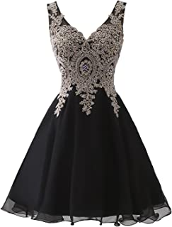 Women's Short Tulle Beading Homecoming Dresses Prom Party Gowns