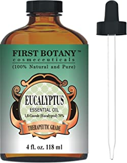 Eucalyptus Essential Oil - Big 4 Oz - 100% Pure & Natural Therapeutic Grade with Glass Dropper - Eucalyptus Oil is Great f...