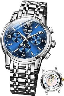 Mens Automatic Watches Self Winding Mechanical Luxury Dress Wrist Watch Moon Phase Waterproof...