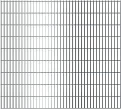 vidaXL Dubbelstaafmatten Hek Schutting Omheining Hekwerk Tuin Tuinhek Afscheiding Dubbelstaaf Mat 2,008x1,83 m 16 m (Total...