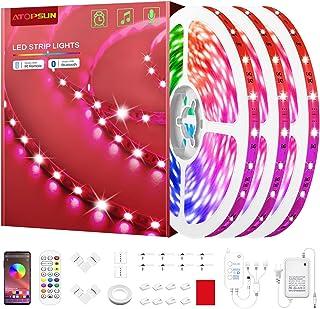 50ft Led Strip Lights Music Sync Color Changing 5050 RGB Led Light Strips Kit, Led Lights for Bedroom, Kitchen, Home Decor...