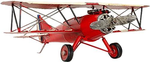 Aubaho Avión Modelo japonés Aeroplano biplano hidroavión Metal Estilo Antiguo - 33cm