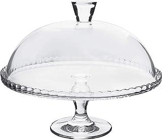 Alzatina Per Dolci Con Coperchio A Cupola, Tortiera In Vetro Con Campana Di Diametro 32 Cm, Piatto Rialzato Da Pasticceria...