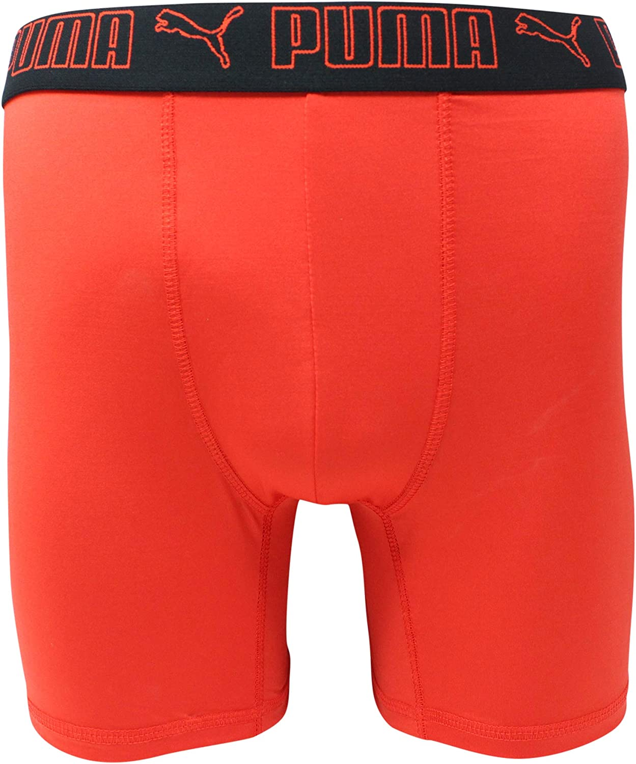 PUMA Men's 3 Pack Tech Boxer Brief (X-Large, Red/Grey (Sportstyle))