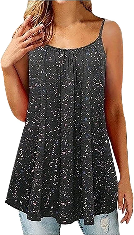 Womens Summer Tops Women Puls-Size Crewneck Button Sleeveless Vest Solid Short T-Shirt Sling Tops Juniors Girls
