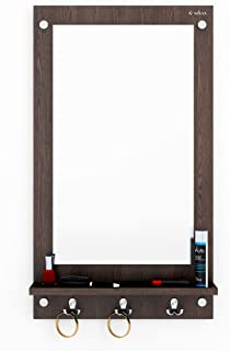 Anikaa Kia Dressing Table/Wall Mirrorwith Shelves and Hanging Hook (Wenge)