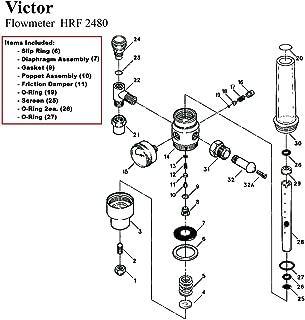 Best victor flow meter rebuild kit Reviews