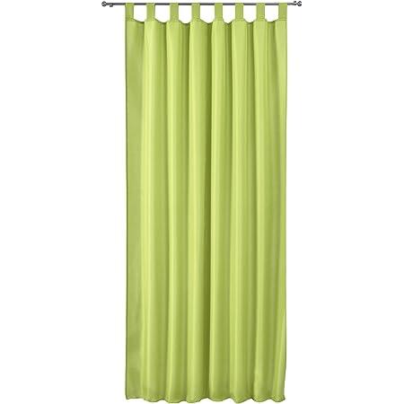 245x140 Apfelgrün matt Vorhang Blickdicht Schlaufenschal aus Microsatin