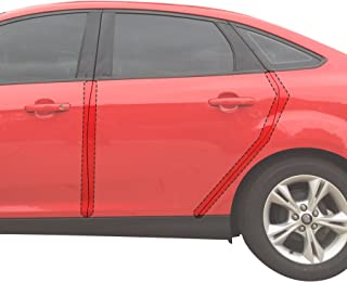 Red Hound Auto Door Edge Lip Guards 2012-2018 Compatible with Ford Focus 4pc Clear Paint Protector Film Not Universal Pre-Cut Custom Fit