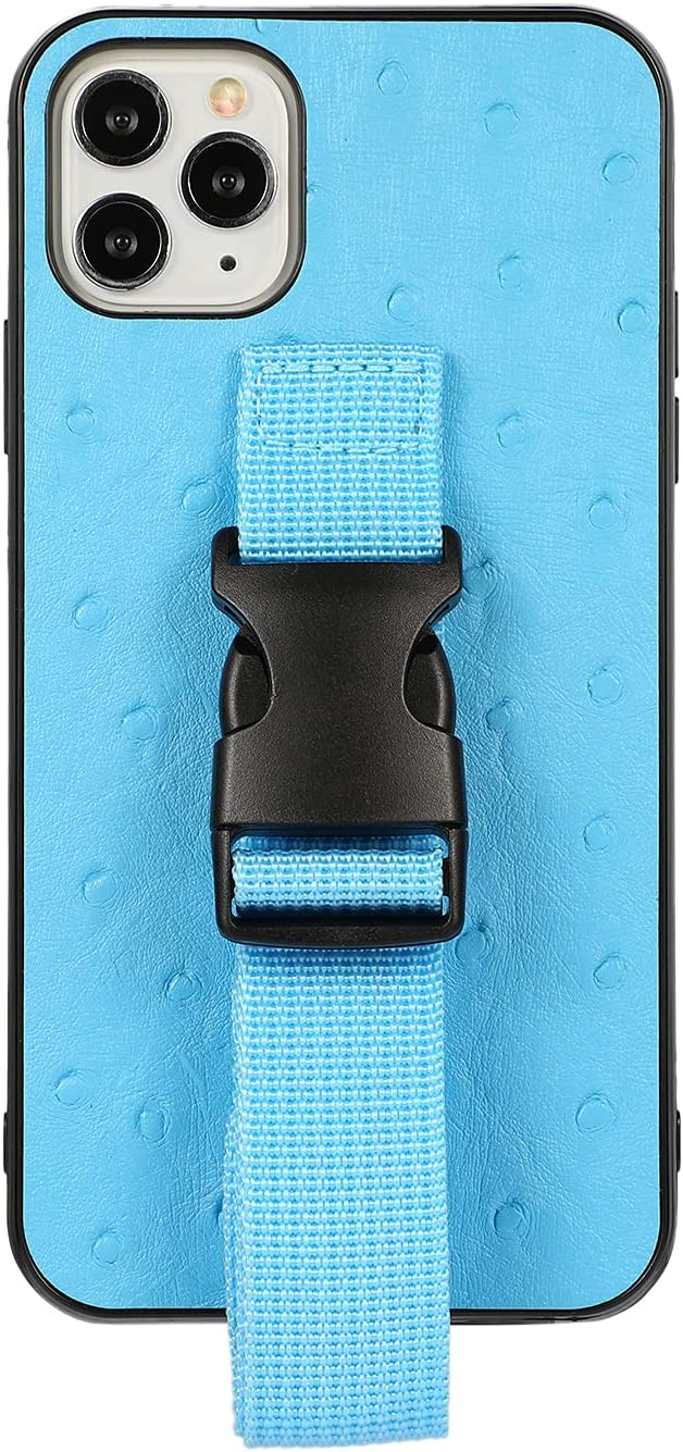 Omorro for iPhone 11 Pro Max Case with Stand, Running Armband Lanyard Crossbody Adjustable Detachable Necklace Strap Flexible TPU Workouts Sports Gym Waistband Phone Holder Protective Cover Case