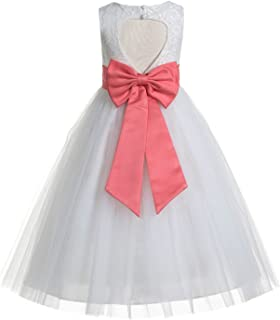 bbbc4b15e7343 Amazon.com: coral flower girl dress - Clothing / Girls: Clothing ...