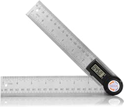 Digital Angle Finder Protractor 7 Inch Stainless Steel Angle Finder Ruler 200mm with Zeroing and Locking Function, Digital LCD Display, Coin Battery Included for Woodworking, Construction, Repairing