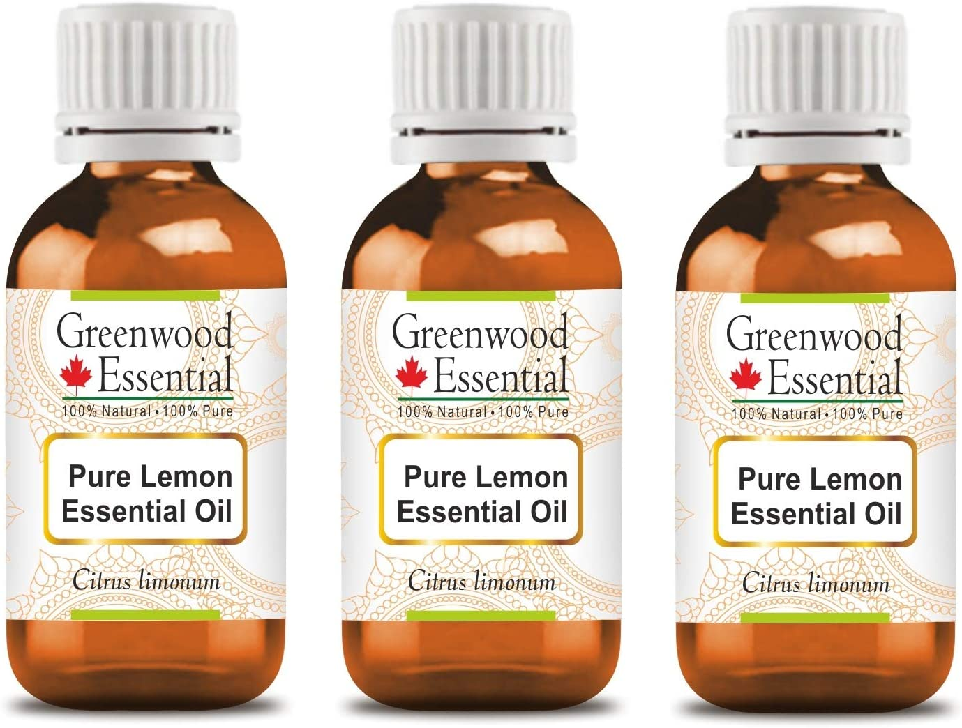 Greenwood Essential Pure Lemon Essential Oil (Citrus limonum) 10